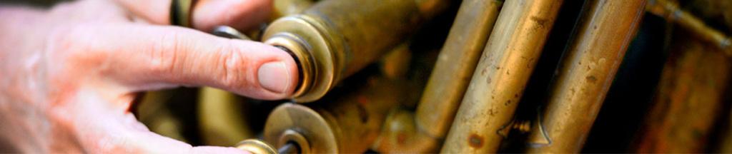 Närbild trombon